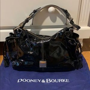 DOONEY & BOURKE patent black leather bag!!